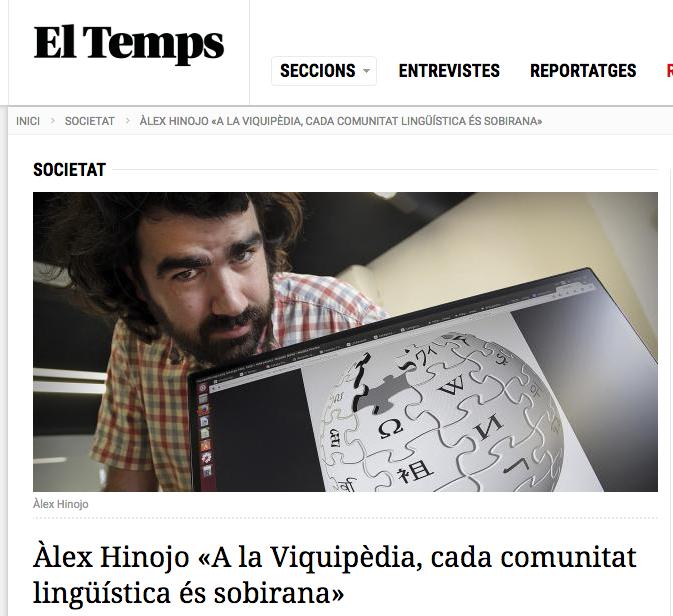 Entrevista a El Temps 2015